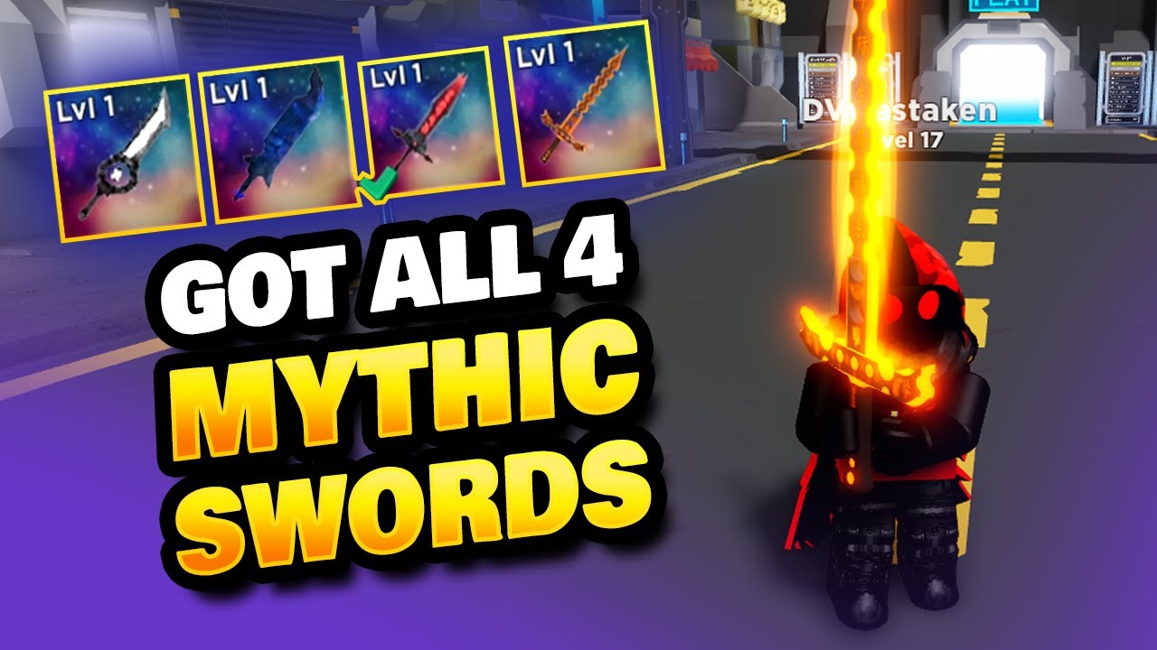 Download Bought All 4 Mythic Swords & Gave 3 Away in Blade Quest