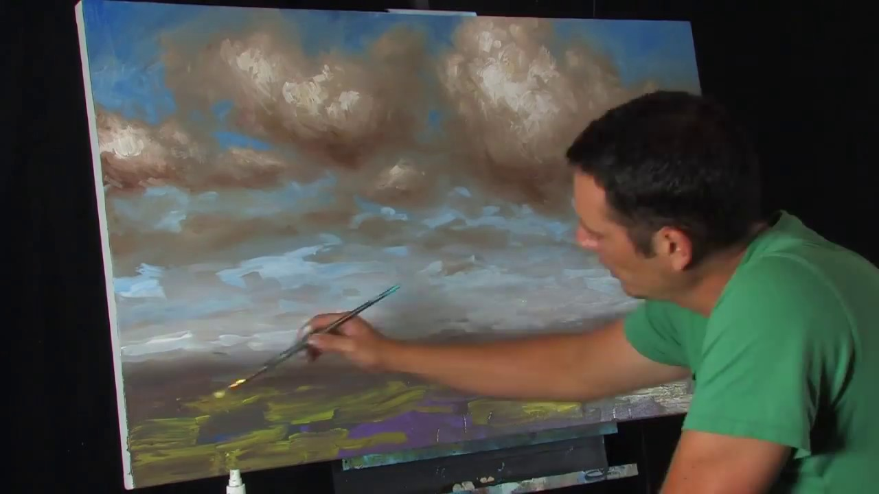 Time Lapse Acrylic Expressionist Landscape Painting By Tim