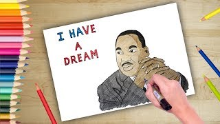 Martin Luther King Jr. Day Poster Drawing | mlk day