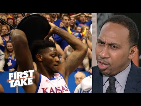 Stephen A. reacts to the brawl at Kansas vs. Kansas State | First Take