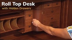 Home Office: Mission Deluxe Roll Top Desk | DutchCrafters