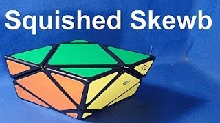 Squished Skewb Unboxing & Demo  *available now* Rubik's Cube type puzzle