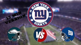 Madden 20 | CFM | Season 21 | Week 12 Philadelphia Eagles vs New York Giants | 15 Minutes