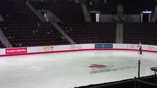 2020 Canadian Tire Figure Skating Championships. Novice Ice dance medalists Lap.