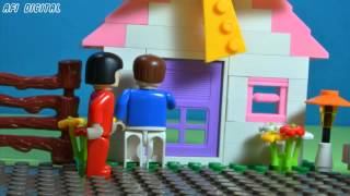 Lego Together With His Wife - Stop Motion Movies