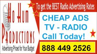 Cheap TV Ads, commercials 888 449 2526 Cheap radio ads FREE