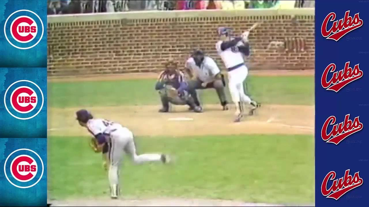 Jody Davis Nails Brent Gaffs Fastball For A Grandslam 1984 Harry Caray Calls It