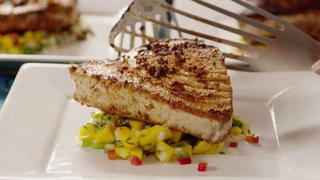 Fish Recipe - How to Make Blackened Tuna Steaks - YouTube