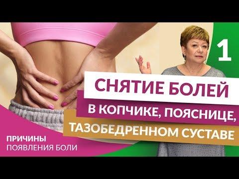 0 Снятие болей в копчике, пояснице, тазобедренном суставе. Часть 1. Причины появления боли