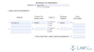 Ohio Affidavit Of Property.mp4