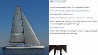 Học Tiếng Anh qua Truyện Cười: 20 - Mouthology (Miệng Học)