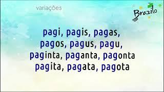 PAGI verbo em Esperanto