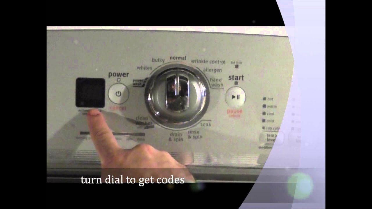 How To Get Codes From A Maytag Bravo X Washer Youtube