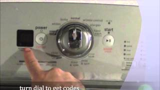 how to get codes from a maytag bravo x washer