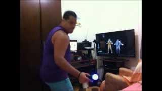 """Rodrigo Dançando """"Just Dance 2014"""" - PS3 - Daft Punk ft. Pharrell Williams - Get Lucky"""