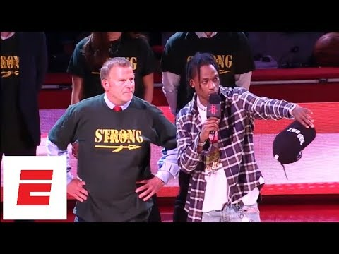 Travis Scott gives message to Santa Fe seniors before Game 5 of Rockets vs. Warriors | ESPN