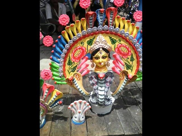 Goddess Manasa, Goddess of snakes on the day of worship