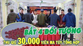 Công an Lào Cai bắt 4 đối tượng mua bán, vận chuyển 30.000 viên M.A T.Ú.Y tổng hợp   THLC