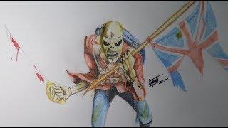 Speed drawing, dibujando a EDDIE de iron maiden