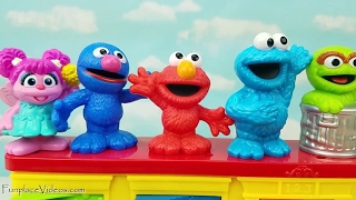 Pop Up Toys Learn Colors w/ Elmo Cookie Monster Names Sesame Street Kids Toddler Children Race Cars