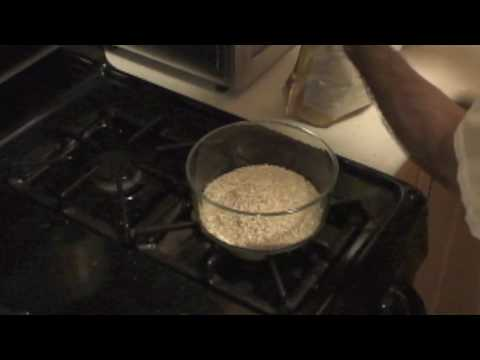 Microwave Cooking Steel Cut Oatmeal Part 1