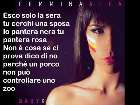 Femmina Alfa - Baby K (testo)