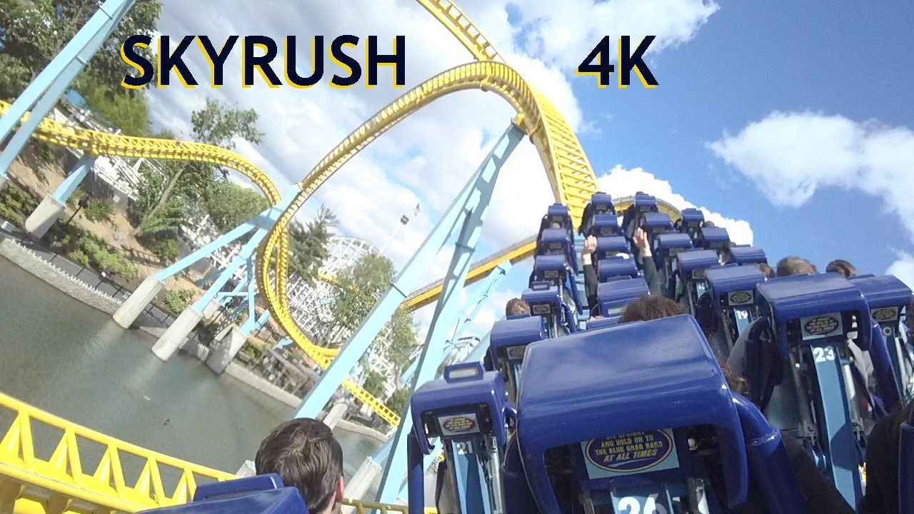 Skyrush 4k Pov Hersheypark Back Seat Roller Coaster On Ride Intamin