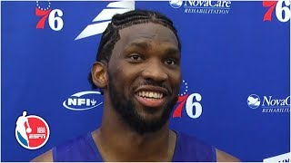 Joel Embiid's new hairstyle is a hit at Sixers camp | 2019 NBA Training Camp