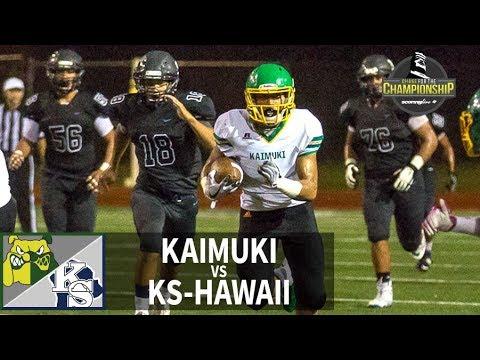 SL Replay   Kaimuki vs. KS-Hawaii: HHSAA D2 Football Quarterfinal (Nov. 10, 2018)