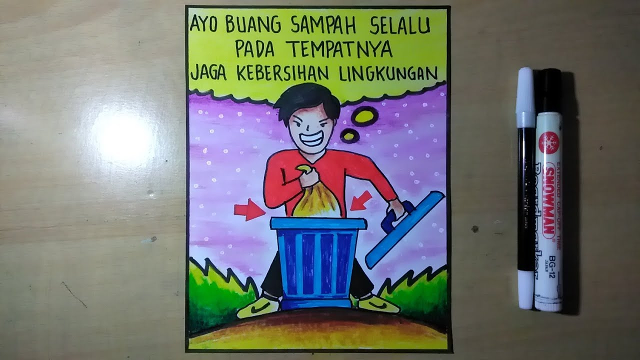 Gambar Poster Menjaga Kebersihan Lingkungan Youtube