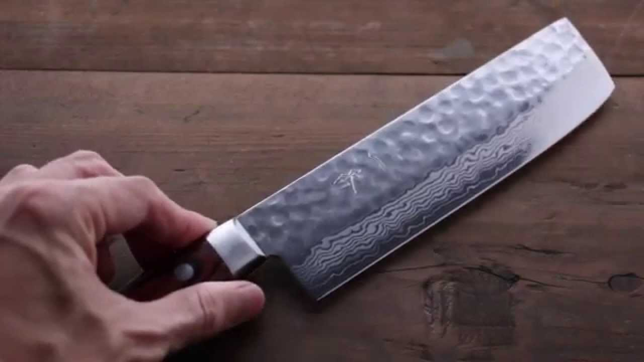 ichiban best knife vg10 hammered damascus nakiri vegetable knife 165mm youtube. Black Bedroom Furniture Sets. Home Design Ideas