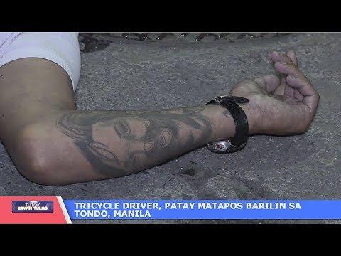 Tricycle Driver, Patay matapos barilin sa mariones, Tondo