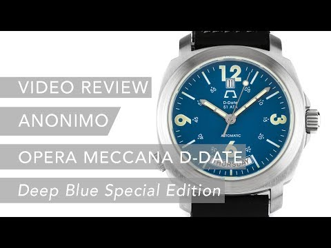 "Pre-Owned Anonimo Opera Meccana D-Date ""Deep Blue"" Special Edition 2006 Luxury Watch Review"