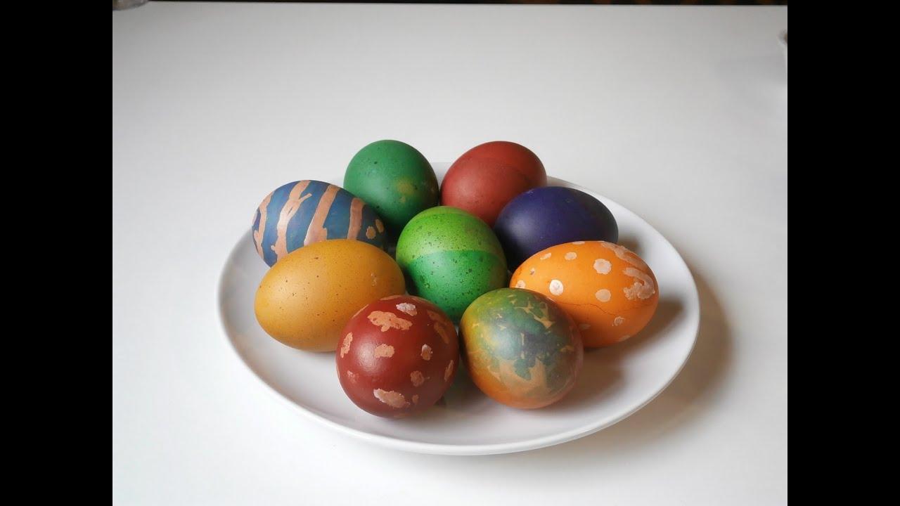 3 оригинальных способа окраски яиц | Окрашивание яиц на ...