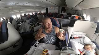 Смотреть видео Аэрофлот Москва-Бангкок (Бизнес класс) онлайн
