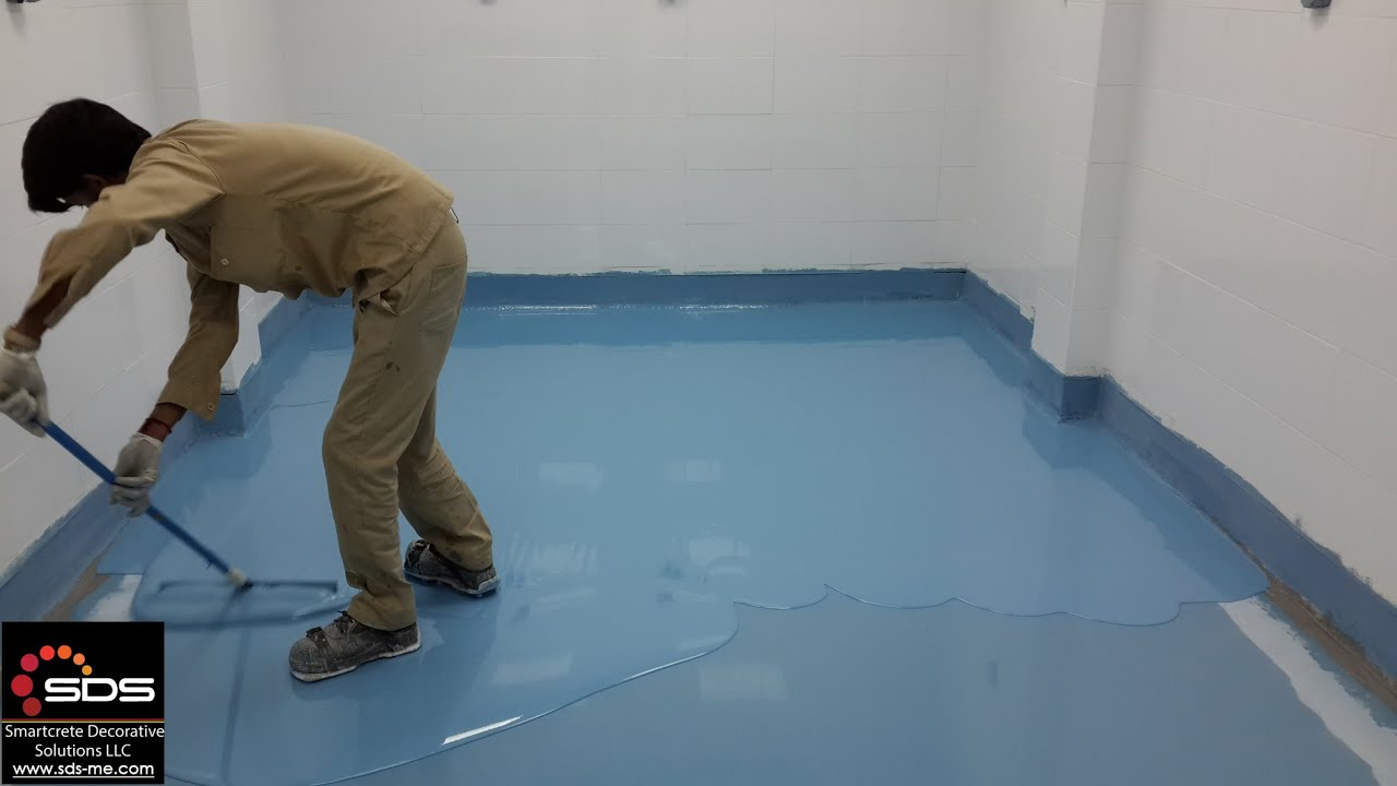 Installation Of Self Levelling Epoxy Flooring At Ice Cream Factory - Cost of self leveling concrete floor