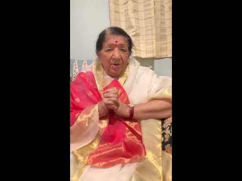 Deepavali Wishes By Lata ji. 20th OCT 2017