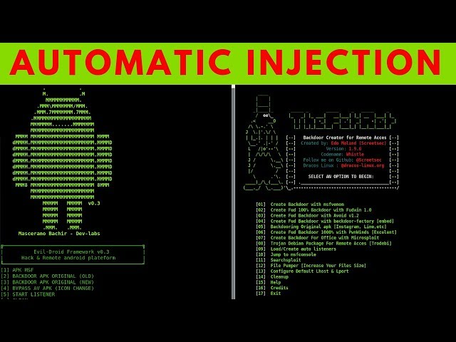 How To Automatically Embed Payloads In APK's - Evil-Droid, Thefatrat & Apkinjector