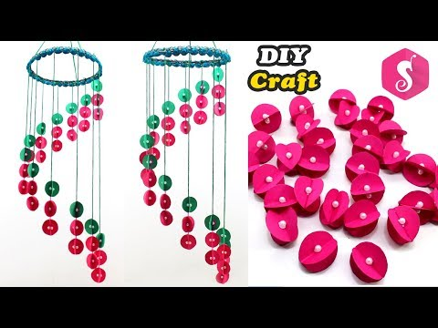 Old Paper Craft Idea | Ceiling Hanging with Paper | Easy DIY Craft | Home Decor 2018