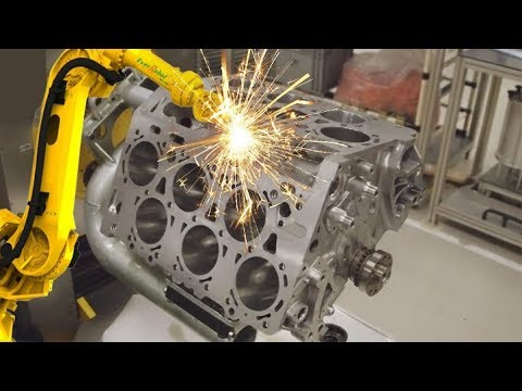 GERMAN CNC Technology - VOLKSWAGEN Super Car Engine Body CNC Lathe