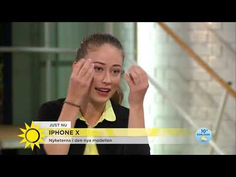 """""""Flaggskeppet iPhone X är helt annorlunda"""" - Nyhetsmorgon (TV4)"""
