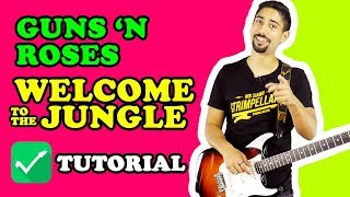 TUTORIAL 🎸 Welcome To The Jungle - Guns N Roses (parte ritmica per chitarra elettrica)