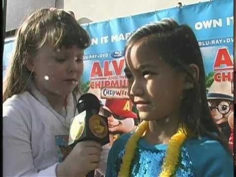 Alvin & The Chipmunks: Chipwrecked Red Carpet Coverage by Morgan and Cheyenne