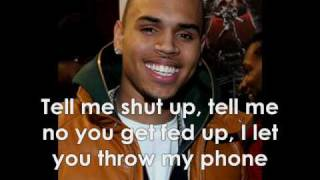 Chris Brown - Talk That Shit W/Lyrics