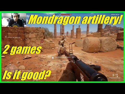 Battlefield 1 - Trying out the Mondragon Artillery! | Is it a good medic weapon? (2 games)