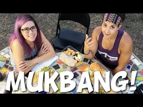 First Mukbang With My Girlfriend & ChelseaLifts! (Vegan Mexican Food)
