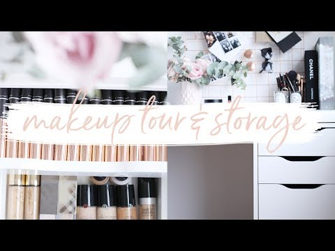 MAKEUP COLLECTION TOUR & STORAGE | Hello October