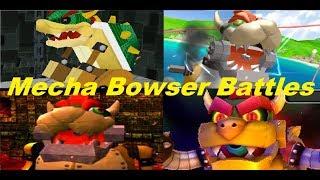 Evolution of Mecha Bowser Battles in Mario Games  (2000-2017)
