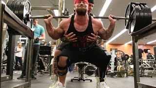 "SQUATING 405 WITH ONE LEG  ""WHATS YOUR EXCUSE"" KC ""THAT1LEGMONSTER"" MITCHELL - Rich Piana"