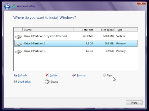 How To Make A Partition On Windows 7